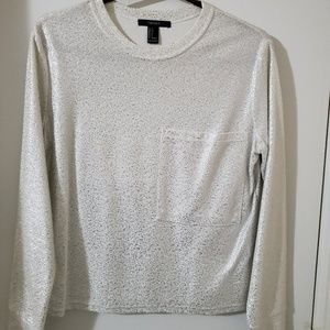 Forever 21 Silver and white nice top